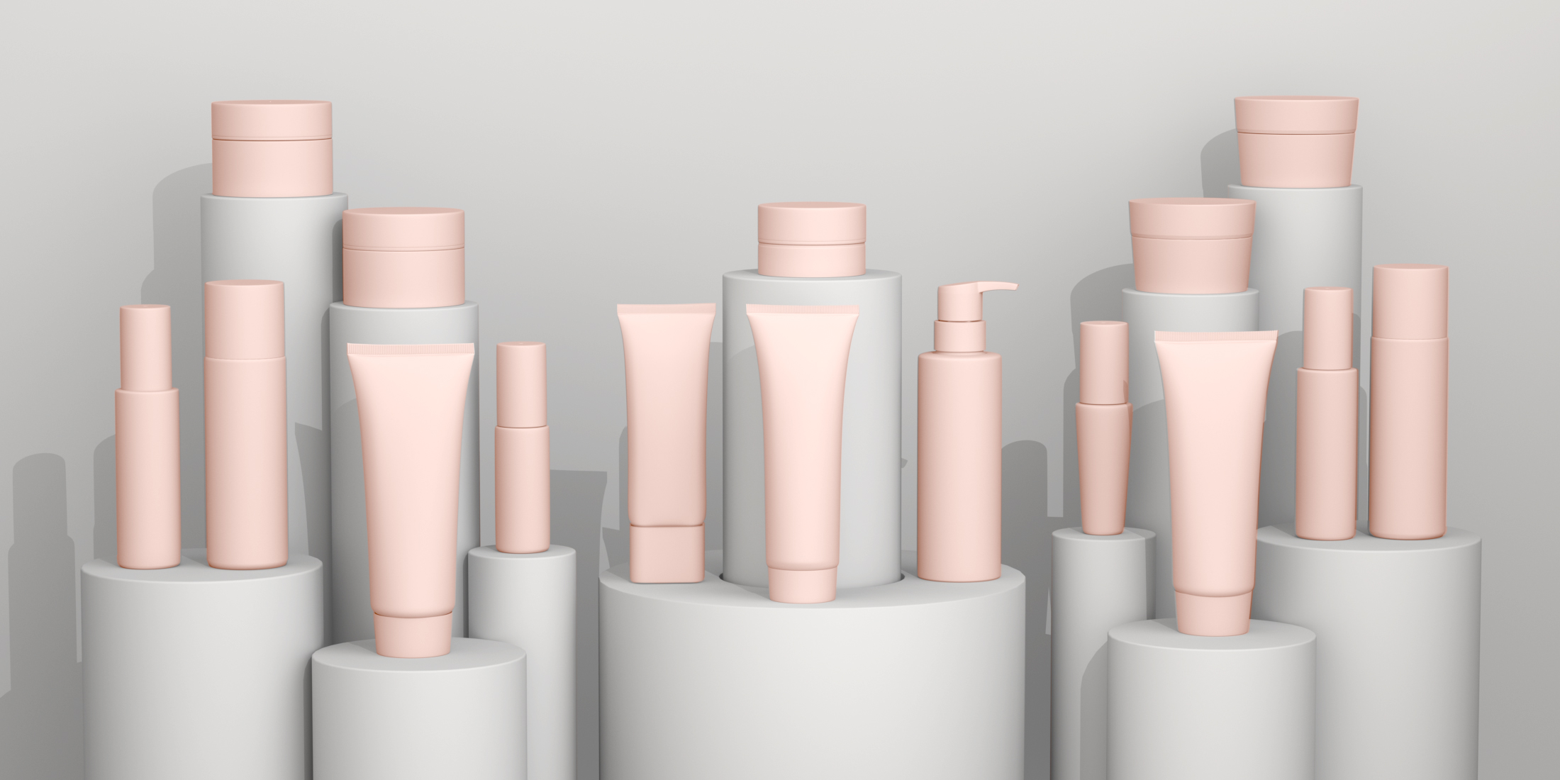 Cho Nami cosmetic product by xolve branding, 3d cosmetic rendering